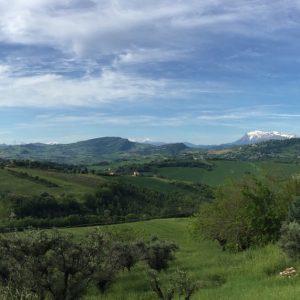 panorama valle del tenna da falerone