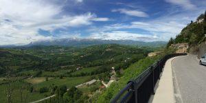 I Sibillini scendendo da Monte San Martino