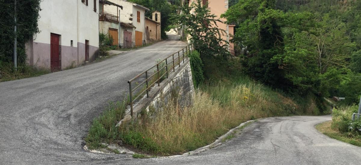 Altimetria della salita di San Gregorio