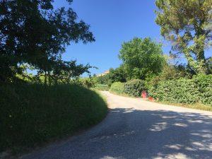 strada verso il muro di ortezzano